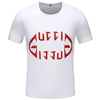 Gucci Casual Simple Women Men Short Sleeve Shirt Top Tee
