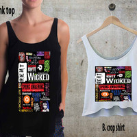 Broadway Musical Collage For Woman Tank Top , Man Tank Top / Crop Shirt, Sexy Shirt,Cropped Shirt,Crop Tshirt Women,Crop Shirt Women S, M, L, XL, 2XL**