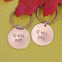 MOM & DAD Key Chains Set - Great Gifts