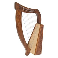 Rosewood Harp 12 Nylon Strings with Brass levers