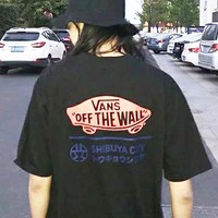 VANS × SHIBUYA trend sells t-shirts with short sleeves and classic simple casual joker sleeves