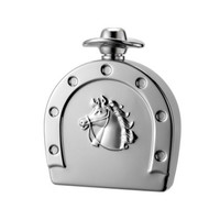 MG Gifts 6 Oz Horse Shoe Flask With Mirror Finish