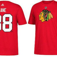 Patrick Kane Chicago Blackhawks #88 Adidas Jersey T-Shirt NHL Name & Number 2017