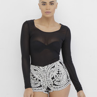 AVALON EMBROIDERED SHORTS