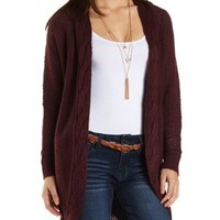 Cable Knit Duster Cardigan Sweater by Charlotte Russe