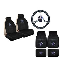 Licensed Official New NFL Dallas Cowboys Sideless Seat Covers Floor Mats Steering Wheel Cover