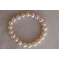 White Stretch Pearl Bracelet BF018