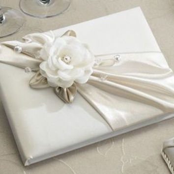Taupe Rose Guest Book