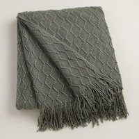 Gray Wave Throw