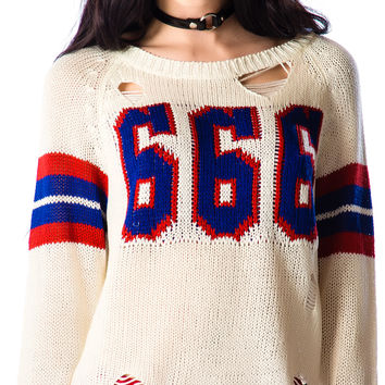 UNIF Varsix Sweater varsity White