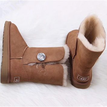UGG Women male Fashion Wool Snow Boots-80