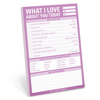 KNOCK KNOCK WHAT I LOVE ABOUT YOU TODAY PAD