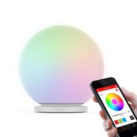 Sphere Smart Color Changing Waterproof Dimmable LED Glass Orb Light Floor Lamp Night Lights