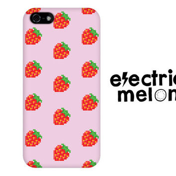 Strawberry iPhone 5c Case, Summer iPhone Case, strawberry iPhone 5c case,  iPhone 5c case, hipster iPhone 5c case, pattern, fruit print