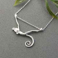 Cute Hanging Monkey Necklace in 2 colors, N0303G