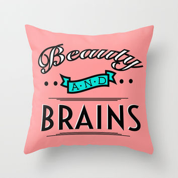 beautyandbrains Throw Pillow by Page394