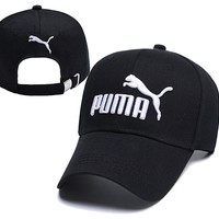 Puma Embroidered Embroidered Outdoor Baseball Cap Hat