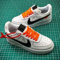 OFF WHITE x Nike Air Force 1 AF1 LV8 LTR Sport Shoes - Best Online Sale