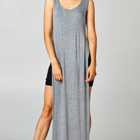DOUBLE LAYERED TANK MAXI - GREY