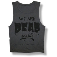 Bring Me The Horizon Women's  Dead Inside Womens Tank Grey