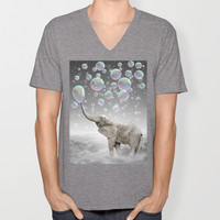 The Simple Things Are the Most Extraordinary (Elephant-Size Dreams) V-neck T-shirt by soaring anchor designs ⚓   Society6