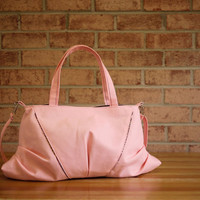 Canvas Tote & Messenger Bag in Light Pink Vegan Bag by solaWu