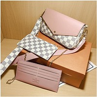 Louis Vuitton classic retro print fashion casual lady chain shoulder messenger bag