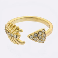 Crystal Arrow Tip Ring