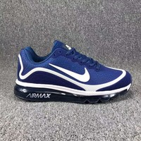 Tagre™ Nike Air Max Fashion Men Sport Running Sneakers Shoes Shock Absorption Shoes Blue(White Hook) I-CSXY