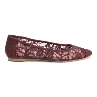 Lace Ballet Flats - from H&M
