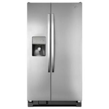 Whirlpool, 24.5 cu. ft. Side by Side Refrigerator in Monochromatic Stainless Steel, WRS325FDAM at The Home Depot - Mobile