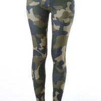 Green Camo Activewear Leggings
