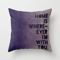 With You Throw Pillow by Leah Flores | Society6