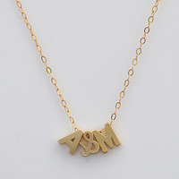 Personalized letter Necklace -  initial & initial, love necklace, available in rose gold, yellow gold, bright or oxidized silver