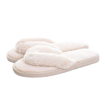 Faux-Fur Slippers