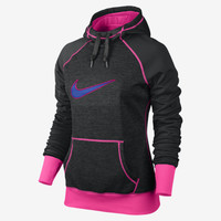 Nike Swoosh Out All Time Women's Hoodie - Black Heather