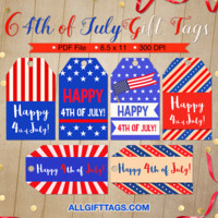4th of July Gift Tags