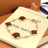 New LV Louis Vuitton Woman Fashion Accessories Fine Jewelry Ring & Chain Necklace & Earrings