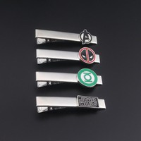 Deadpool Dead pool Taco Hot Sell Fashion Movie Series Tie Clip Jewelry Silver Plated Star Wars Green Lantern  Tie Pin Enamel Tie Bar for Men AT_70_6