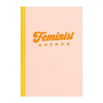"""Feminist Agenda Notebook in Peach 