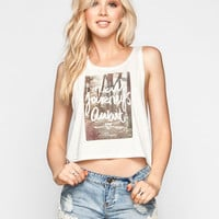 Thieving Hearts New Journeys Await Womens Tank Cream  In Sizes