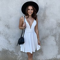 Raise A Toast Skater Dress in White