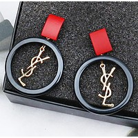 YSL Fashion New Letter Round Long Earring Women Accessories