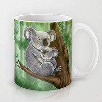 Cute Koala and Baby Mug by LGD.