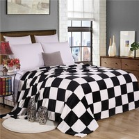 Black and White Flannel Blanket