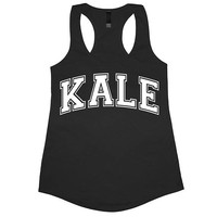 Kale Tank Top Workout Gym Womens Tee Shirt Funny Racerback Muscle