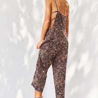 Ecote Sandra Strappy Printed Overall | Urban Outfitters