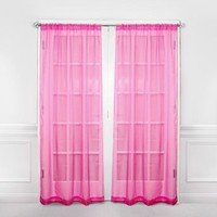 Wake Up Frankie - Organza Window Panels (Pair) - click for more colors! : Teen Bedding, Pink Bedding, Dorm Bedding, Teen Comforters
