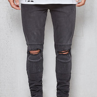 PacSun Stacked Skinny Ripped Moto Black Flex Stretch Jeans at PacSun.com