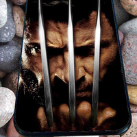 marvel wolverine face for iPhone 4/4s, iPhone 5/5S/5C/6, Samsung S3/S4/S5 Unique Case *76*